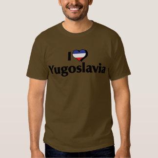 Amo la camisa de la bandera de Yugoslavia