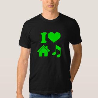 Amo la camisa de la música de la casa