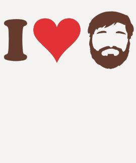 Amo la camisa de las barbas