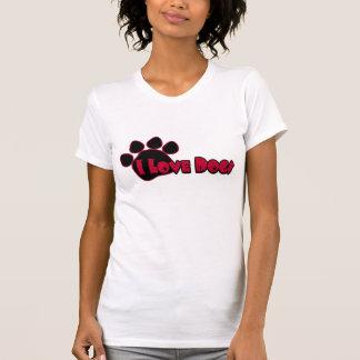Amo la camisa de las mujeres de los perros