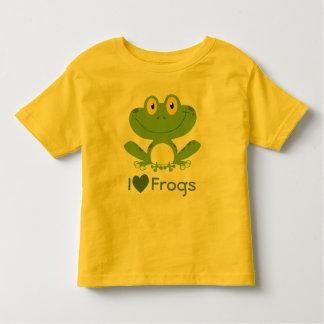Amo la camisa de las ranas