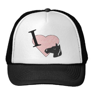 Amo la camisa de los caballos gorra