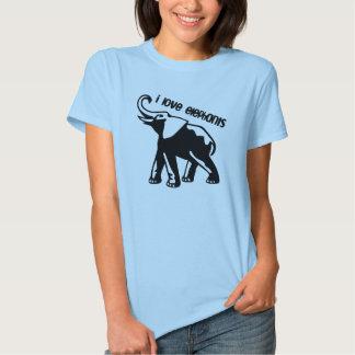 Amo la camisa de los elefantes