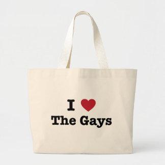 Amo la camisa de los gays bolsa