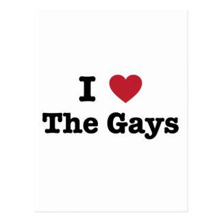 Amo la camisa de los gays postales
