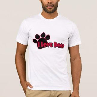 Amo la camisa de los hombres de los perros