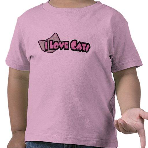Amo la camisa de los niños de los gatos