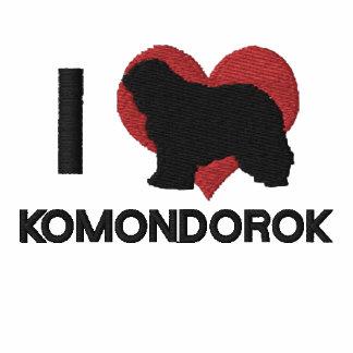 Amo la camisa de manga larga bordada Komondorok