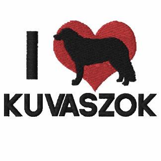 Amo la camisa de manga larga bordada Kuvaszok