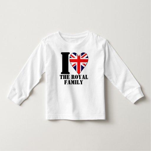 Amo la camisa de manga larga de los niños de la