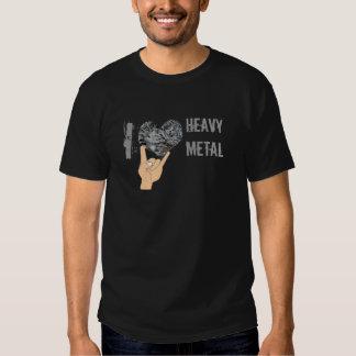 Amo la camisa de metales pesados de la publicidad