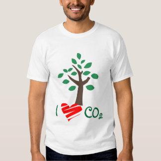 Amo la camisa del árbol del dióxido de carbono del