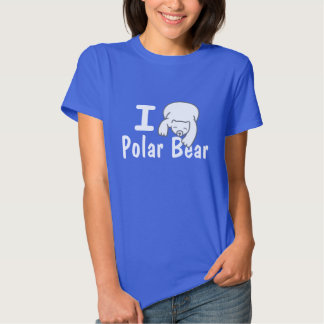 Amo la camisa del azul del oso polar