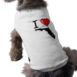 Amo la camisa del perro de la Florida Camisa De Perrito