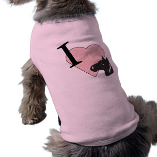 Amo la camisa del perro de los caballos prenda mascota