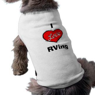 Amo la camisa del perro de RVing, PinkRV.com Ropa De Perros