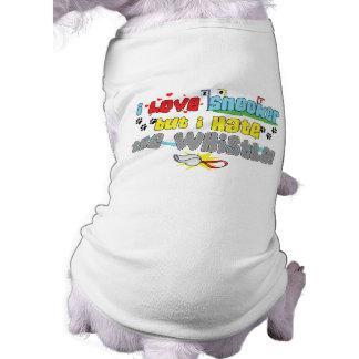 Amo la camisa del perro del billar camisas de mascota