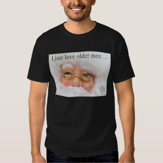 Amo la camisa fea del navidad de Santa