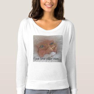 Amo la camisa fea del navidad de Santa de más