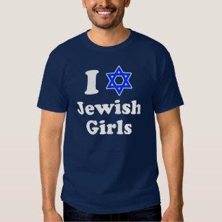 Amo la camisa judía de los chicas