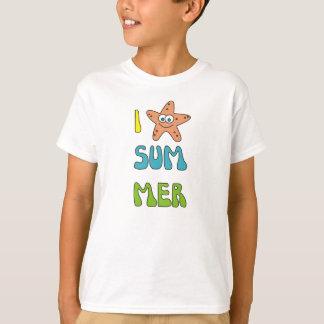 Amo la camisa linda de las estrellas de mar del