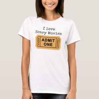 Amo la camiseta asustadiza de las películas