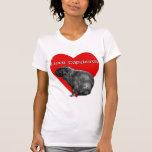 Amo la camiseta básica de las mujeres de los