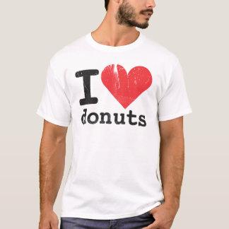 Amo la camiseta básica de los anillos de espuma