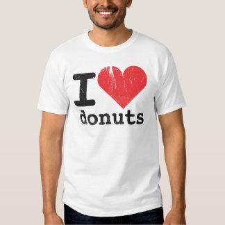 Amo la camiseta básica de los anillos de espuma remera