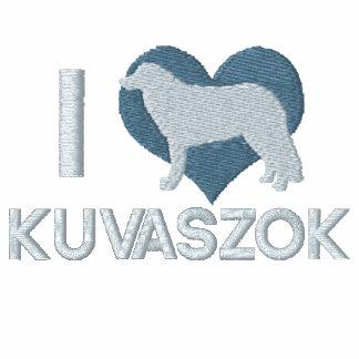 Amo la camiseta bordada Kuvaszok