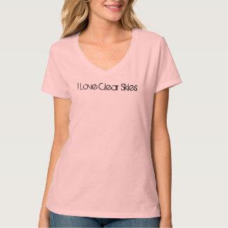 Amo la camiseta clara de los cielos camisas