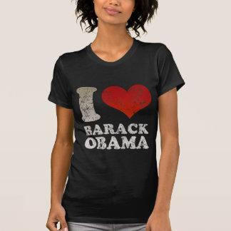 Amo la camiseta de Barack Obama Playera