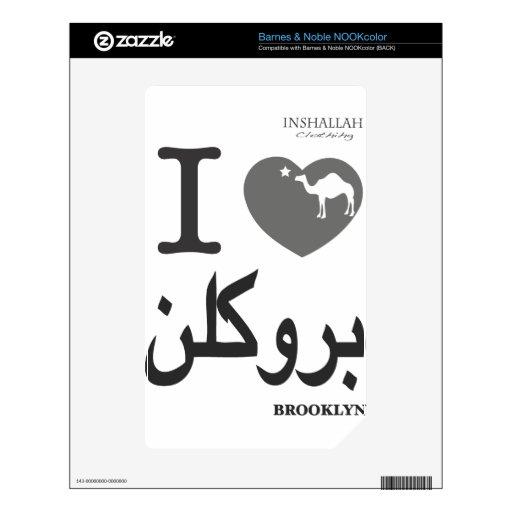 AMO la camiseta de BK (en árabe) Skins Para elNOOK Color
