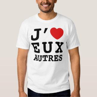 Amo la camiseta de Eux Autres (básica) Remeras
