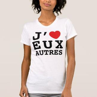 Amo la camiseta de Eux Autres (las mujeres) Poleras