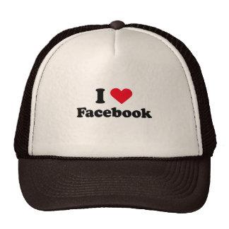 Amo la camiseta de Facebook Gorras De Camionero