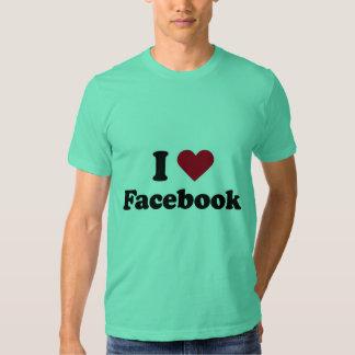 Amo la camiseta de Facebook Playeras