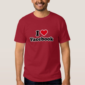 Amo la camiseta de Facebook Polera