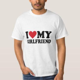 Amo la camiseta de Hanes de mis hombres de la Playera