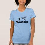 Amo la camiseta de Kansas