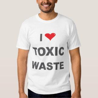 amo la camiseta de la basura tóxica playera