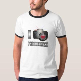 Amo la camiseta de la cámara de la fotografía
