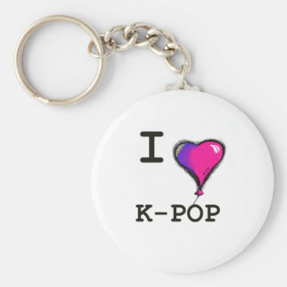 Amo la camiseta de la camiseta de K-POP el hwaiti Llaveros Personalizados