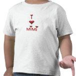 Amo la camiseta de la camiseta del niño MIMI