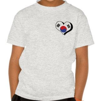 Amo la camiseta de la Corea del Sur Playera