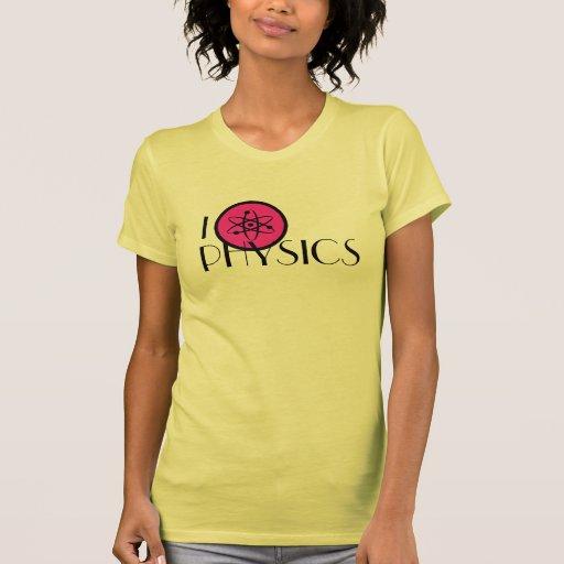Amo la camiseta de la física playera