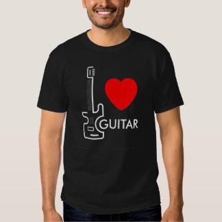 amo la camiseta de la guitarra para el entusiasta camisas