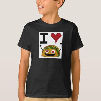 Amo la camiseta de la juventud del Taco