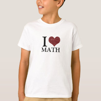Amo la camiseta de la matemáticas polera