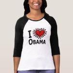 Amo la camiseta de la mujer de Obama